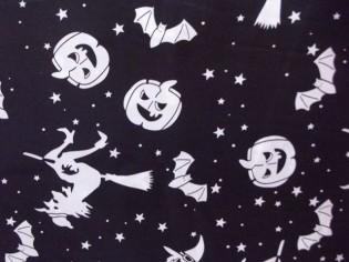 Tissu de Halloween avec Sorcières et Citrouilles
