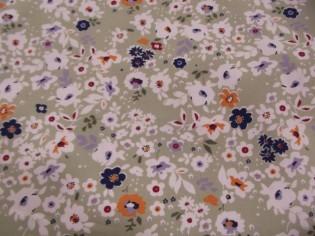 Tissu en Popeline Imprimé Fleurs