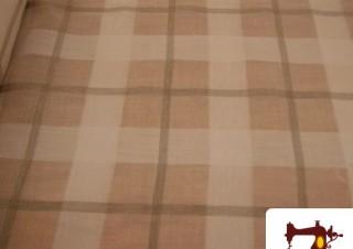 Tissu pour Rideau Quadrillé