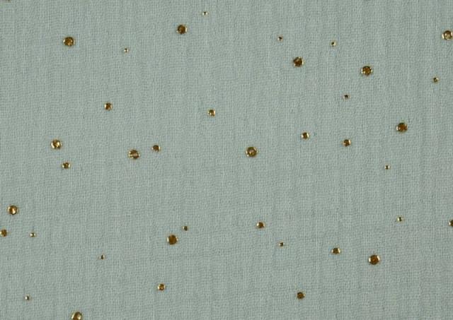 Vente en ligne de copy of Tissu en Mousseline Imprimé avec Tentes couleur Vert menthe