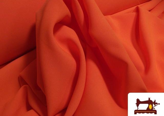 Tissu Foamé Satinette Orange Fluorescent