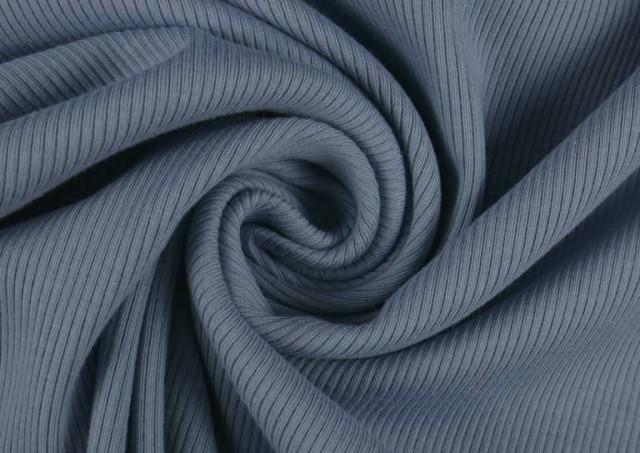 Vente de Tissu en Tricot Côtelé couleur Bleu