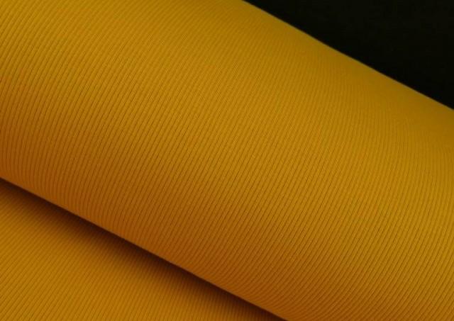 Acheter en ligne Tissu en Tricot Côtelé couleur Moutarde