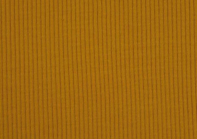 Tissu en Tricot Côtelé couleur Moutarde