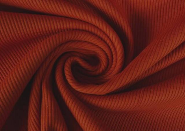 Acheter en ligne Tissu en Tricot Côtelé couleur Tuile