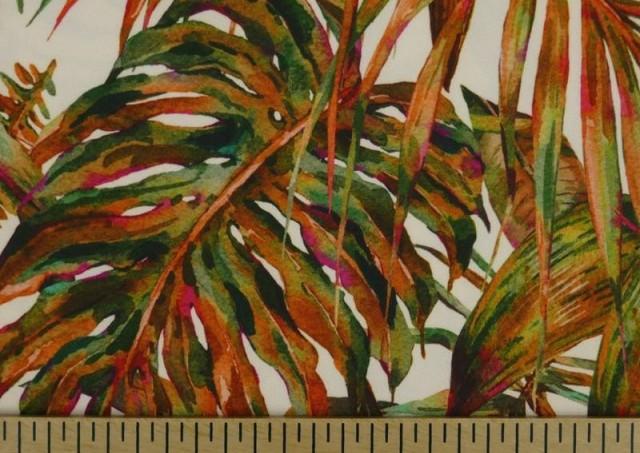 Acheter en ligne Tissu en Crêpe avec Lycra Tropical couleur Orange