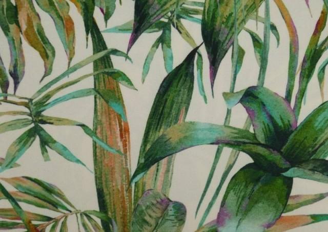 Acheter Tissu en Crêpe avec Lycra Tropical couleur Vert