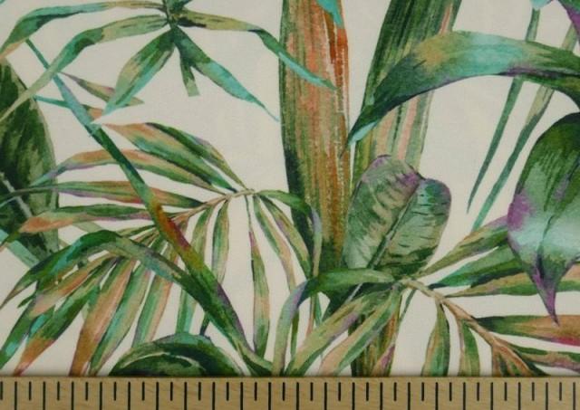 Vente de Tissu en Crêpe avec Lycra Tropical couleur Vert