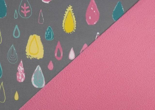 Tissu en Softshell Imprimé avec Gouttes de Couleurs