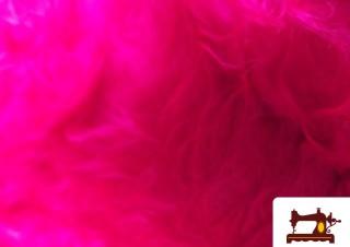 Tissu à Poil Long Couleur Rose Fuchsia Fluorescent
