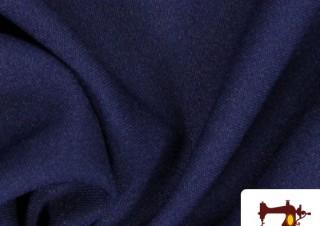 Tissu de Sweat Couleur Bleu Marine