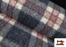 Tissu en Boucle Curly à Carreaux Classiques