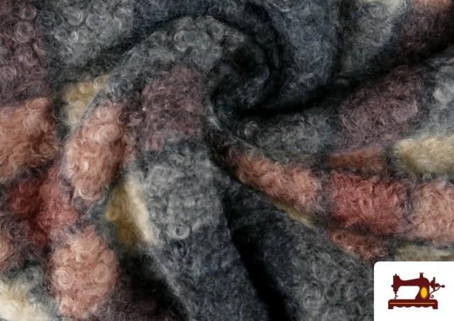 Vente en ligne de Tissu en Boucle Curly à Carreaux Classiques