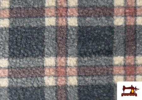 Acheter Tissu en Boucle Curly à Carreaux Classiques