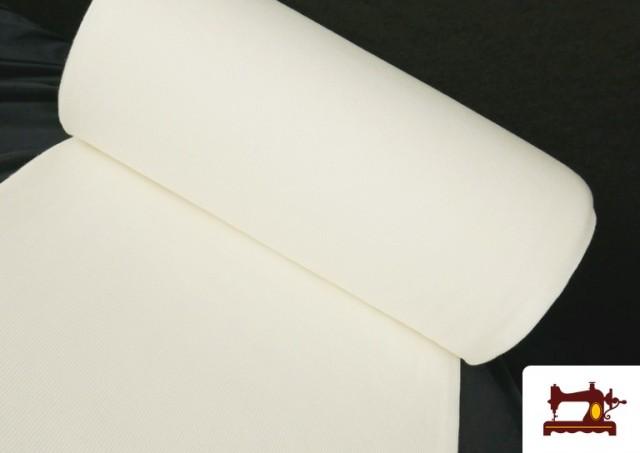 Tissu de Poing Canalé couleur Blanc