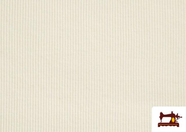 Acheter en ligne Tissu de Poing Canalé couleur Écru