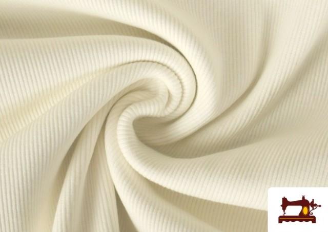 Vente en ligne de Tissu de Poing Canalé couleur Écru