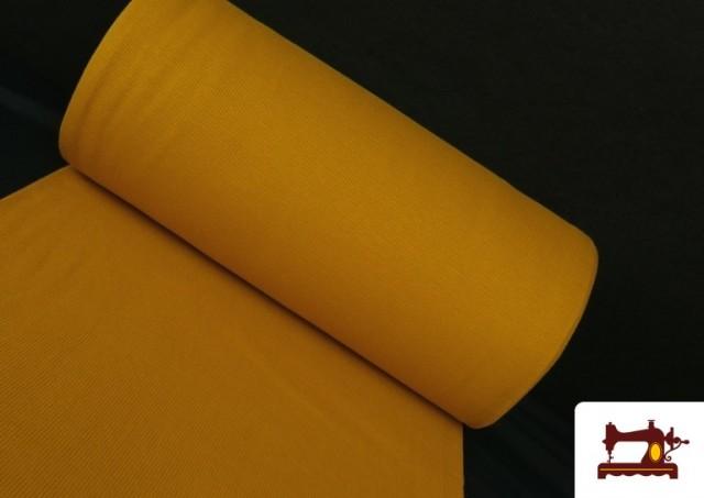 Tissu de Poing Canalé couleur Moutarde