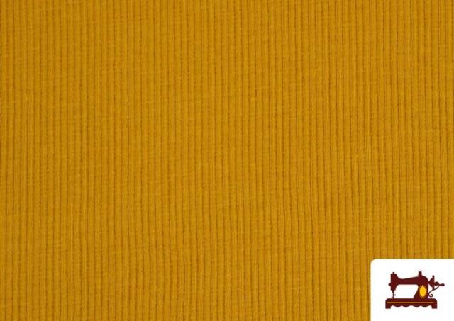 Acheter Tissu de Poing Canalé couleur Moutarde