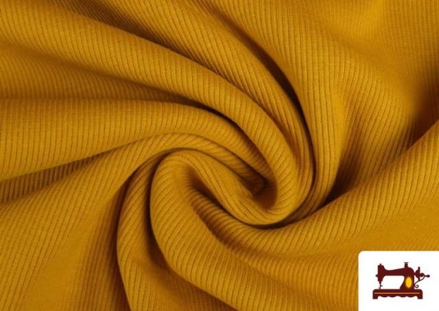Vente de Tissu de Poing Canalé couleur Moutarde