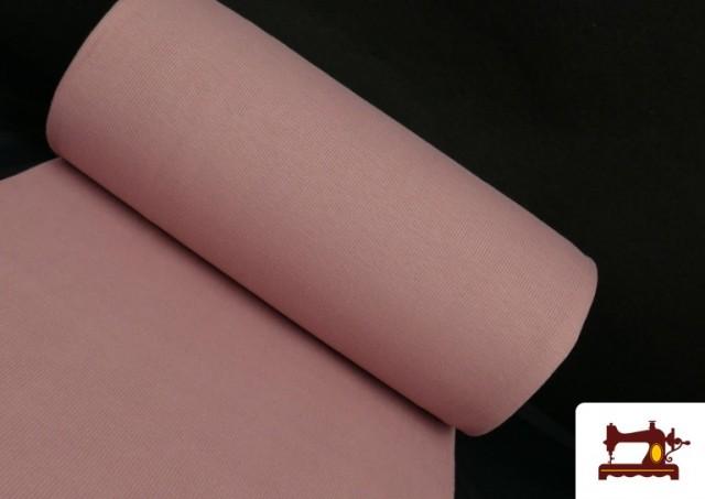 Acheter en ligne Tissu de Poing Canalé couleur Rose pâle