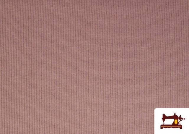 Tissu de Poing Canalé couleur Rose pâle