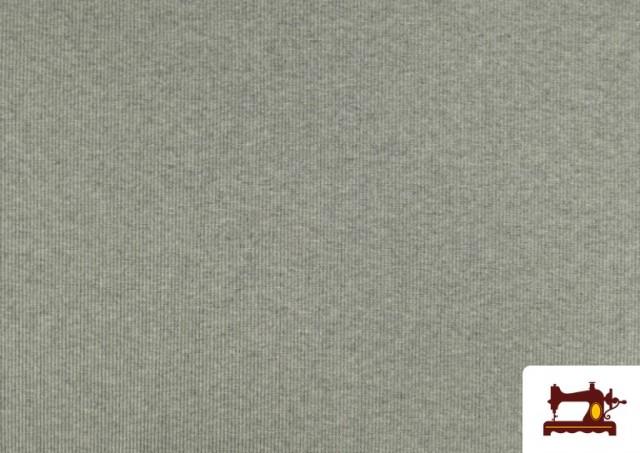 Vente en ligne de Tissu de Poing Canalé couleur Gris clair