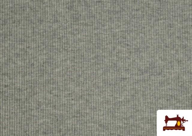 Tissu de Poing Canalé couleur Gris clair