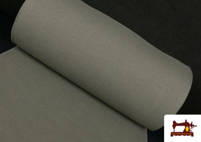 Tissu de Poing Canalé couleur Gris