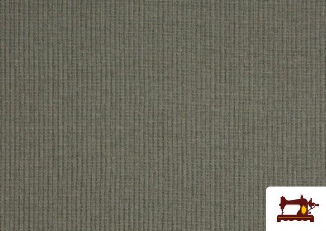 Vente de Tissu de Poing Canalé couleur Gris