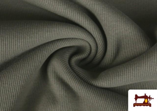 Acheter en ligne Tissu de Poing Canalé couleur Gris
