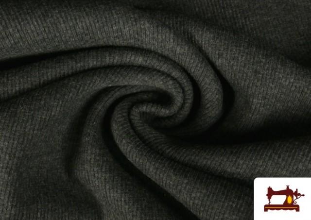 Tissu de Poing Canalé couleur Gris foncé