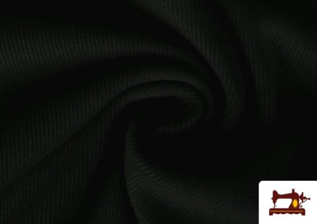 Vente de Tissu de Poing Canalé couleur Noir