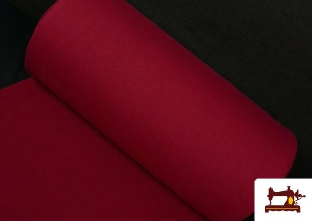 Acheter en ligne Tissu de Poing Canalé couleur Grenat