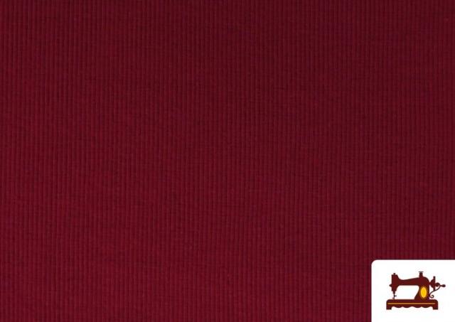Vente en ligne de Tissu de Poing Canalé couleur Grenat