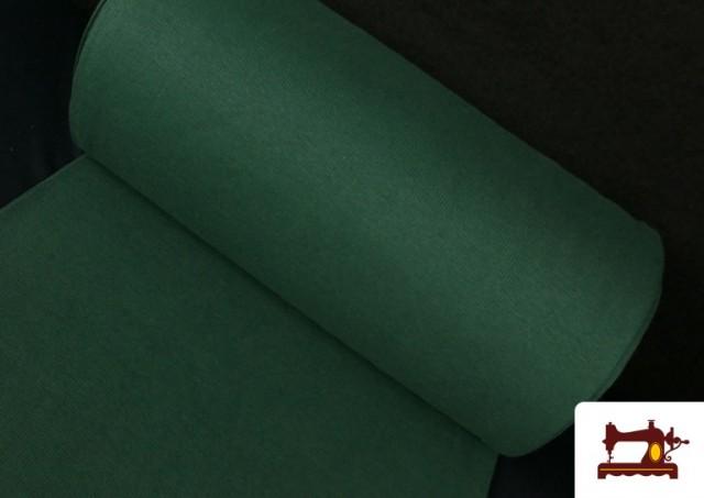 Tissu de Poing Canalé couleur Vert Bouteille