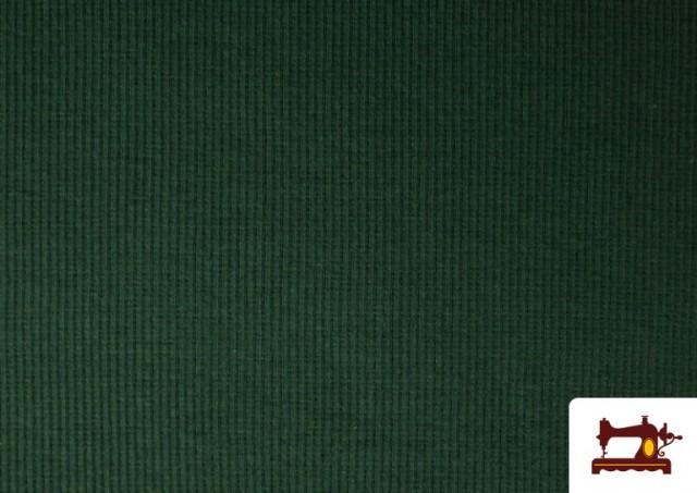 Acheter Tissu de Poing Canalé couleur Vert Bouteille