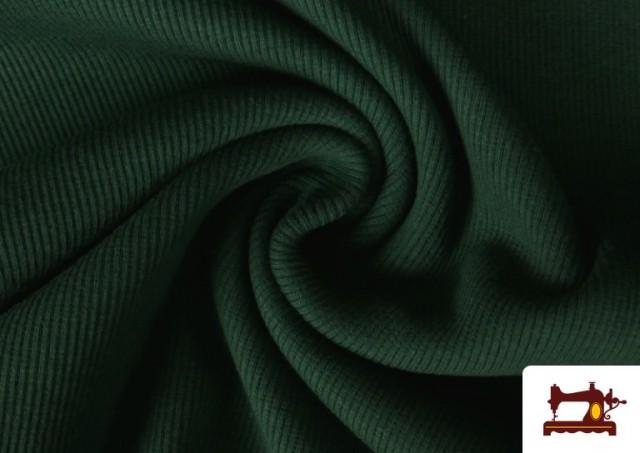 Vente de Tissu de Poing Canalé couleur Vert Bouteille