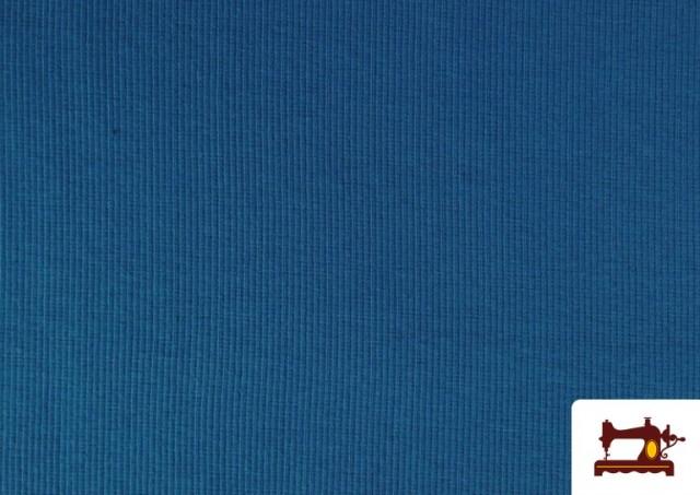 Acheter Tissu de Poing Canalé couleur Bleu Cobalt