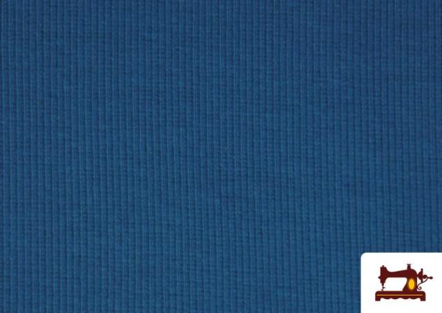 Vente de Tissu de Poing Canalé couleur Bleu Cobalt