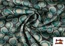 Acheter en ligne Tissu en Crêpe Satiné Géométrique de Couleurs couleur Vert