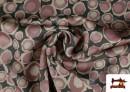 Vente de Tissu en Crêpe Satiné Géométrique de Couleurs couleur Rose pâle