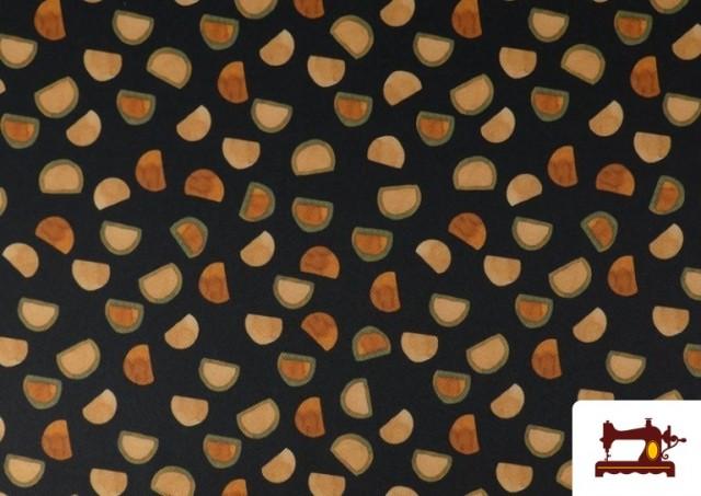 Acheter Tissu en Serge Crêpe avec Demi-Oranges