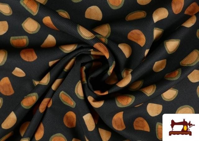 Vente en ligne de Tissu en Serge Crêpe avec Demi-Oranges