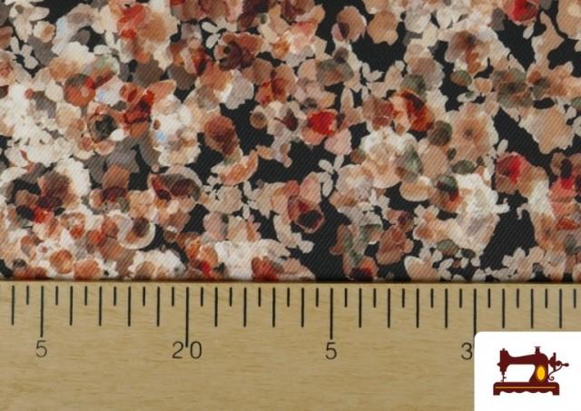 Vente en ligne de Tissu en Serge Crêpe avec Fleurs du Jardin