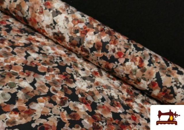 Acheter Tissu en Serge Crêpe avec Fleurs du Jardin