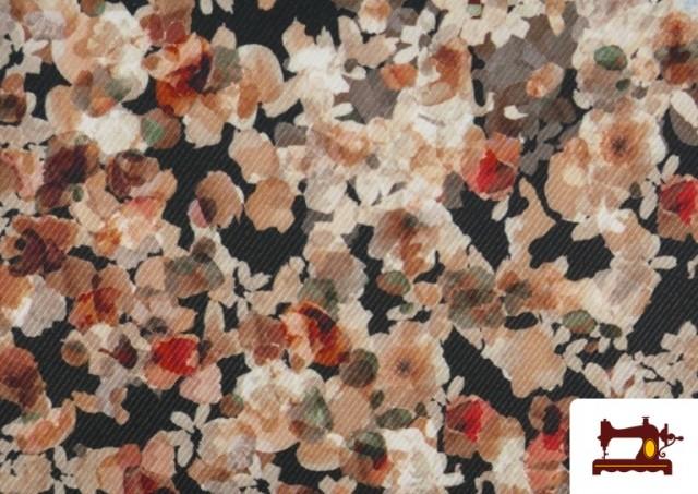 Vente de Tissu en Serge Crêpe avec Fleurs du Jardin