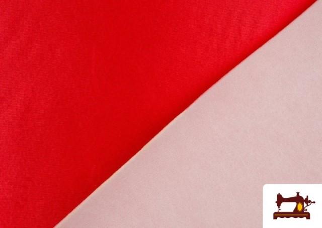 Acheter Tissu Satiné avec Mousse couleur Rouge