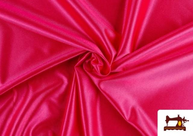 Acheter en ligne Tissu Satiné avec Mousse couleur Fuchsia