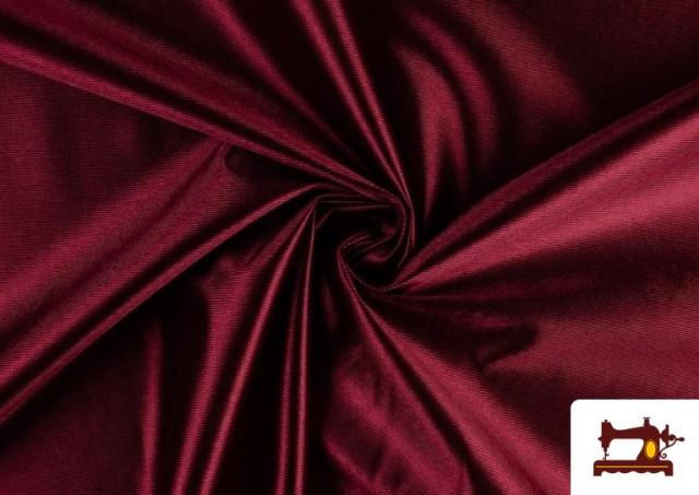Vente de Tissu Satiné avec Mousse couleur Grenat